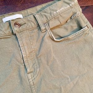 Seven 7 for all mankind distressed olive straight